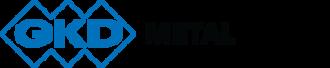 Large gkd metal fabrics logo