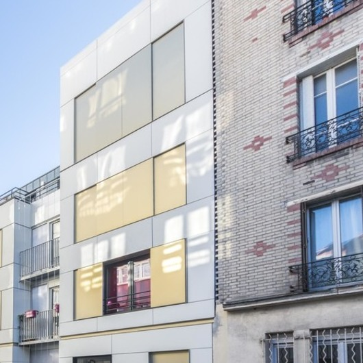 Rainscreen Cladding Panels for Lightweight Facades in Apartment Block