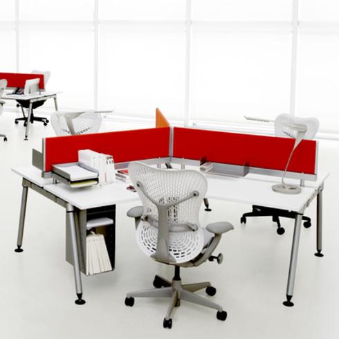Materials de plataforma arquitectura for Muebles de oficina herman miller