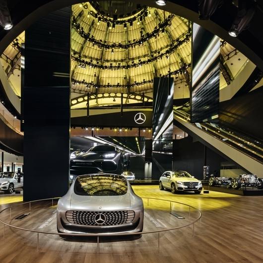 EGGER PRO Laminate Flooring for Mercedes Exhibition Stand IAA