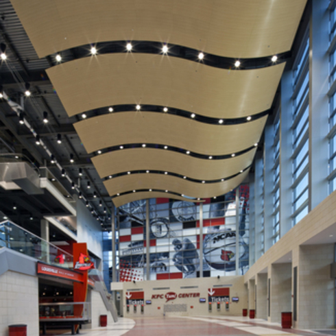 Metal Ceilings - Woodwright Curved Torsion Spring / Hunter Douglas Contract