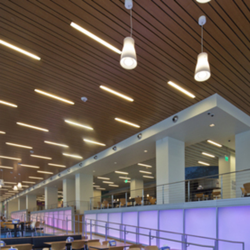 Metal Ceilings -  Woodwright Multi-Box Series ceiling system / Hunter Douglas Contract