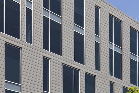 Cirrus Logic Building VMZ Interlocking panel in QUARTZ-ZINC