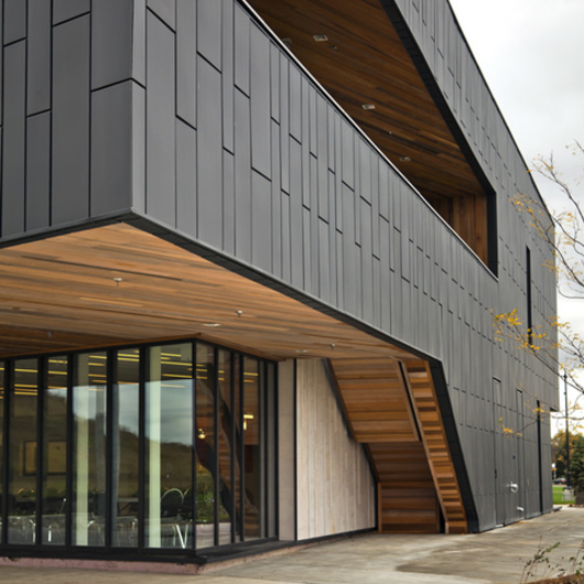 Dry Design Metal Panels : Facade overlapping panels from vmzinc