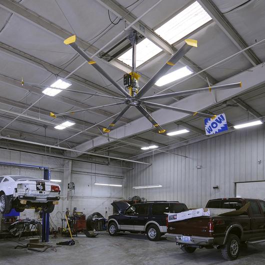 heavy duty ceiling fan powerfoil 8 from big ass fans. Black Bedroom Furniture Sets. Home Design Ideas
