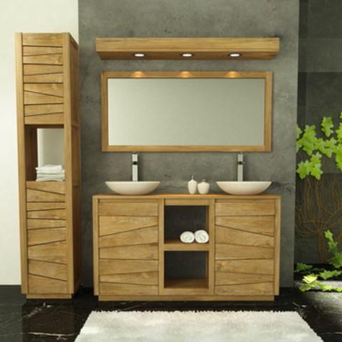 Muebles de Baños en Madera de Teca, Serie Lavamanos Dobles