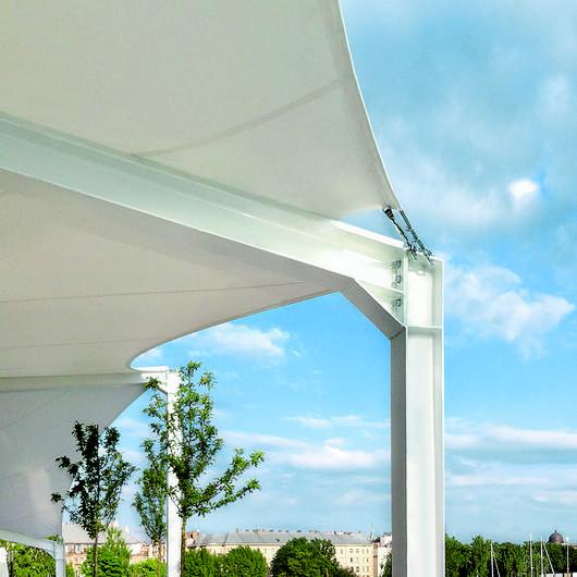 Tensile Architecture in Aqua Luna