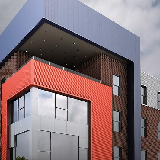 Extruded Plank Facade System