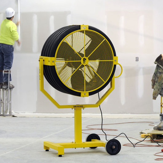portable and mountable fan yellow jacket from big ass fans. Black Bedroom Furniture Sets. Home Design Ideas