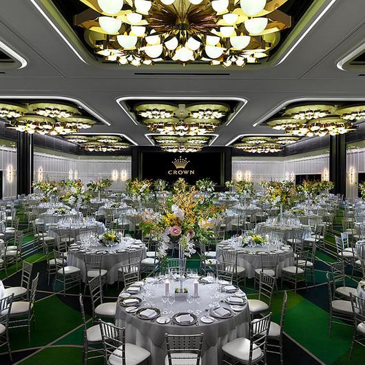 Custom Luminaires in Crown Perth Ballroom