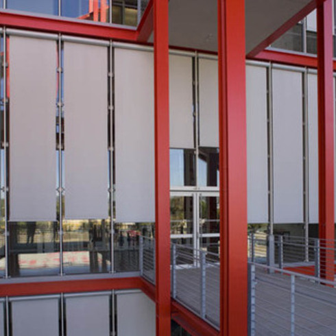 Shades - Nysan Motorized External Roller Shades / Hunter Douglas Contract
