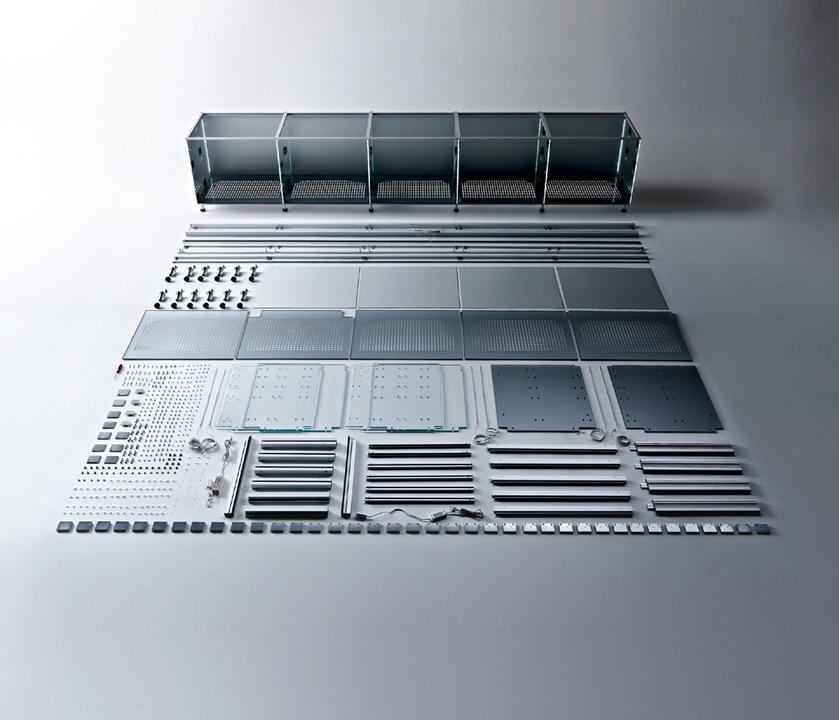 kitchen cabinet system invitrum valcucine