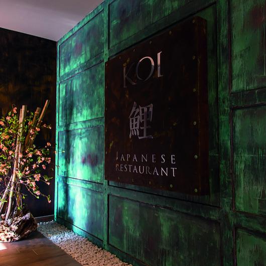 EGGER Surfaces in Koi Restaurant