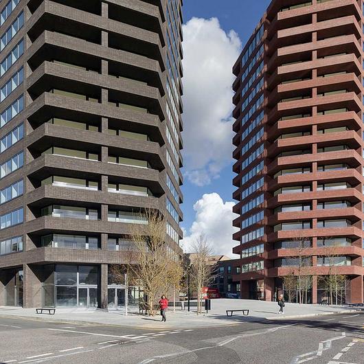 Facing Bricks in Hoxton Press Towers