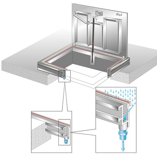 Floor Door - Checkerplate