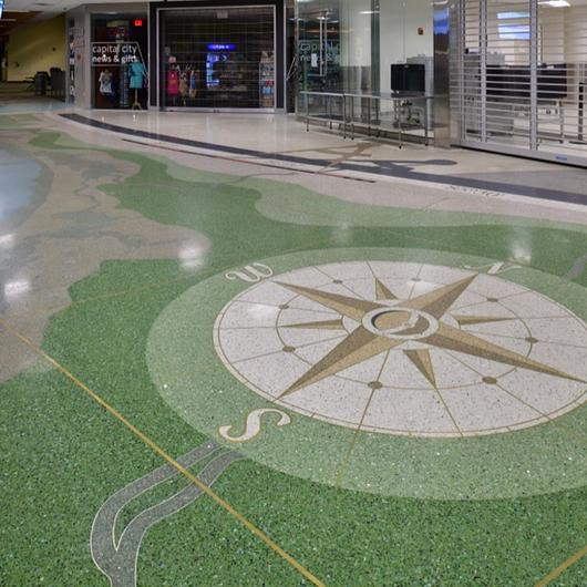 Terrazzo in Tallahassee Airport