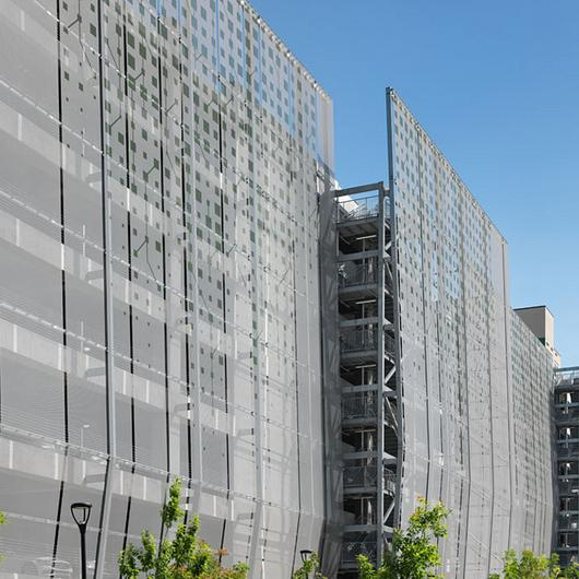 Metal Fabric in Parking Facades
