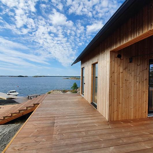 Lunawood Thermowood Façade and Decking in Project Ö