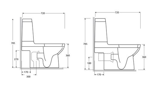 Baños Medidas Neufert:Fijación Interior Fijación Superior