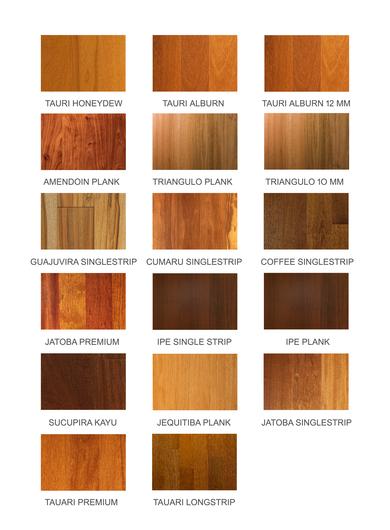 Pisos de madera exotic de ab kupfer - Maderas laminadas tipos ...