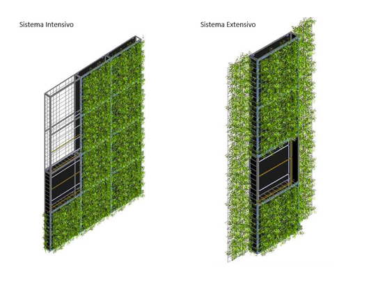 Jardines verticales intensivos y extensivos canevaflor de for Reja para jardin vertical