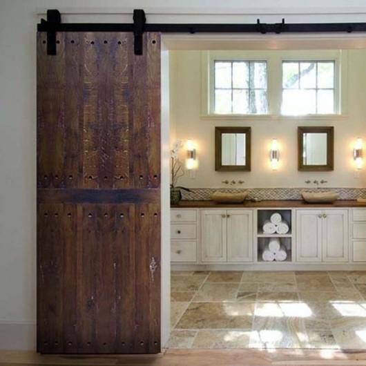 Wooden Doors - Solid Lenga Wine Staves Line / Ignisterra