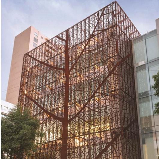 Revestimientos met licos materials de plataforma - Acero corten fachadas ...