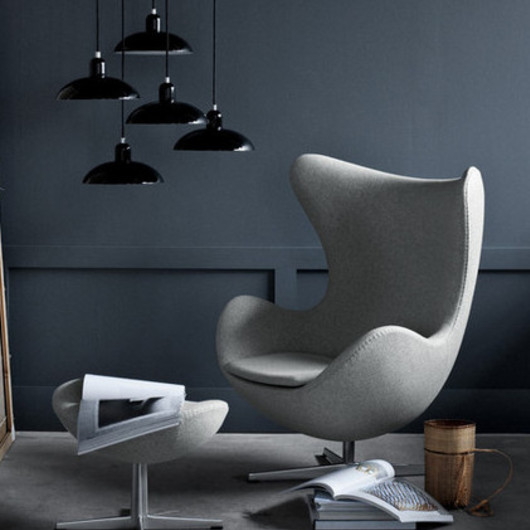 Silla con base pedestal The Egg marca Fritz Hansen
