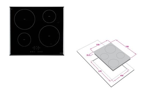 Encimera FDV inducción 4P (cod. 11438)
