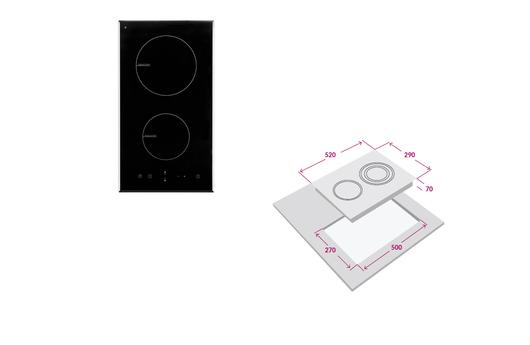 Encimera FDV inducción 2P (cod. 11437)