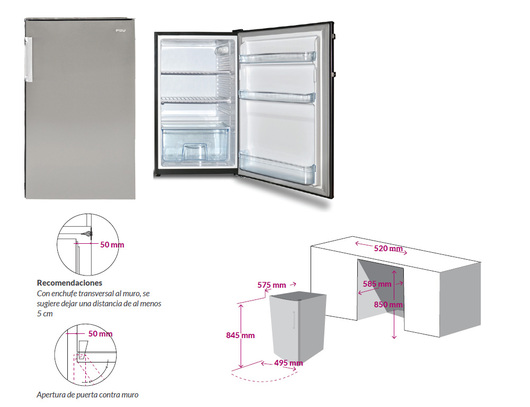 Refrigerador y freezer FDV Undermount (cod. 11217-11216)