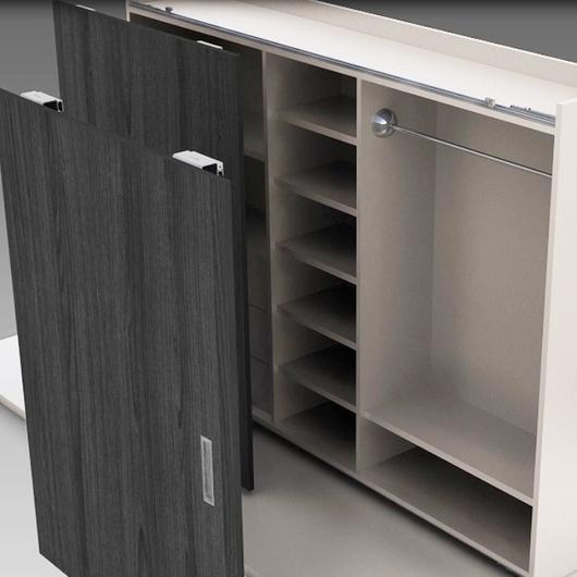 Sistema de cierre corredizo para closet CA 80 / Spatii