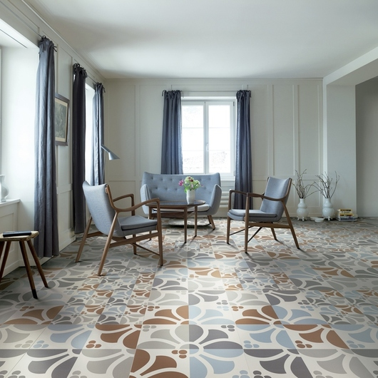 Porcelain Tiles - Frame Emilia Flower Collection / Ceramiche Refin