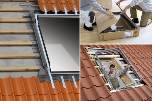 Cerco exterior ondulado para ventana para techo inclinado VELUX – Modelo EDW