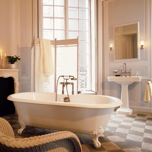 Mezcladora duomando para tina con regadera times square de for Salle de bain belle epoque