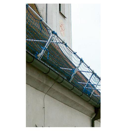 Entramado con red horizontal protección provisional / Rothoblaas