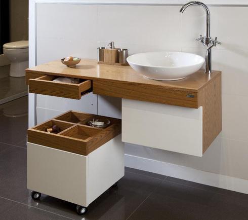 Muebles de ba o de chc - Lavabos de colores ...