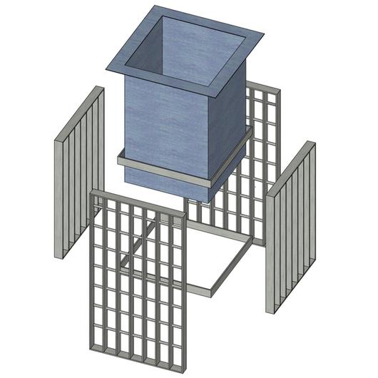 Mobiliario urbano con parrillas de barras y perfiles laminados