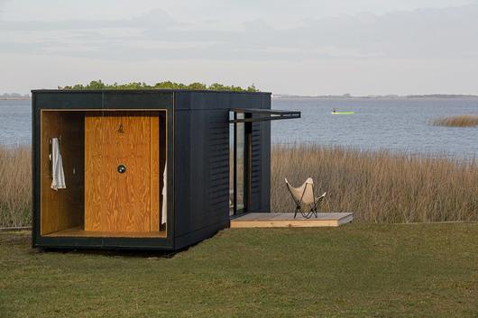 mobiliario jardim jumbo:Minimod. MAPA Arquitetura. Foto: Leonardo Finotti.