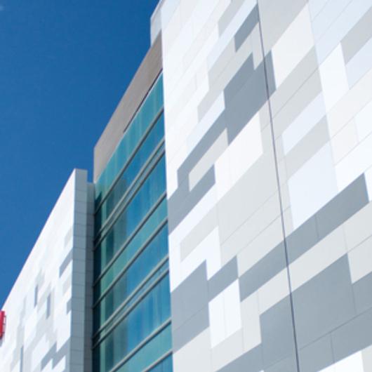 Placa de Fibrocemento Pictura en Edificio Rex