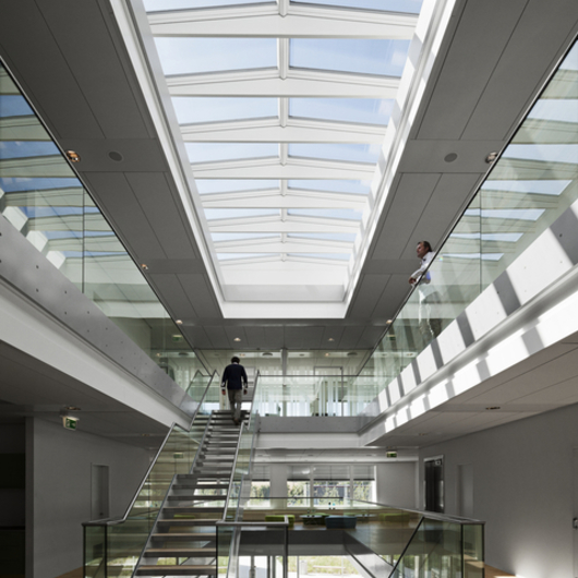 Modular skylights atrium longlight ridgelight from velux for Architectural skylights