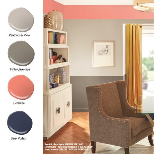 Tendencias de color 2016 de behr pro for Colores de pintura para casas 2016