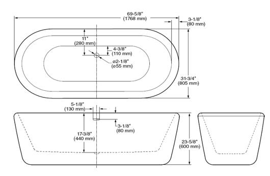 Tinas De Baño Dimensiones:de Baño , contacta a través del botón de contacto al inicio de