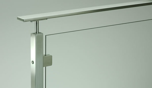 Stainless Steel Glass Railing Glacier Flat Top Rail From