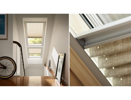 Cortinaje el ctrico para ventanas para techo inclinado de velux - Cortinas para tragaluz ...