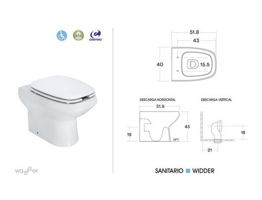 Baño Para Ninos Medidas: tienen altura para un perfecto encaje de una silla de ruedas