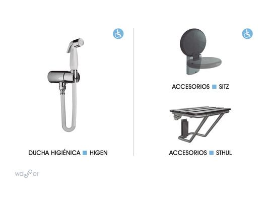 Baño En Ducha Asistido:Baños para personas con Discapacidad de CHC