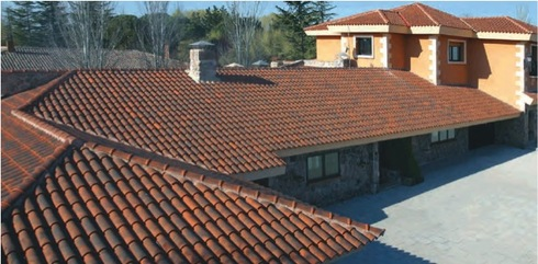 Soporte para tejas soporteja de pizarre o for Tejas livianas para techos