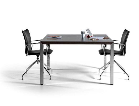 gama de mesas de reunin verstiles y combinables en ms de superficie de mesa realizada en melamina con canto en abs de mm
