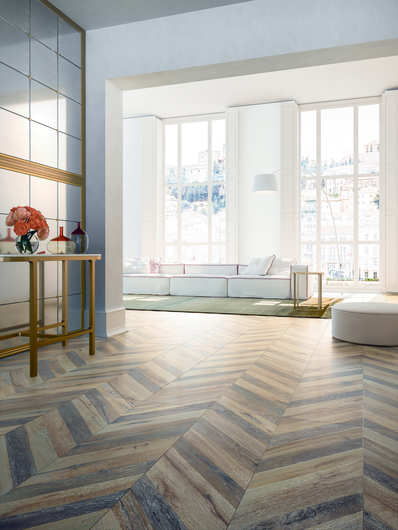 TILE FLOORING-Chevron